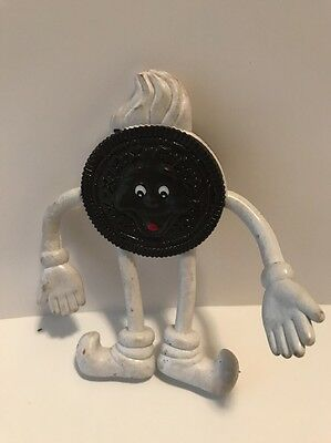 Oreo Cookie Bendable Toy Figure Nabisco Collectible 1990's