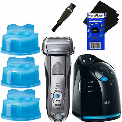 Braun Series 7 799cc-6 Wet&Dry shaver, Clean&Charge Station + 3 Cartridges+Brush