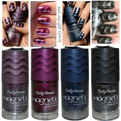 New Sally Hansen Magnetic Nail Color Polish 4 Different Shades 9.17ml / 0.31 oz