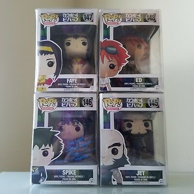 Cowboy Bebop Funko Pop - Set of 4 with autographed Spike and Beckett COA