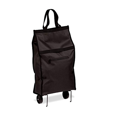 Collapsible Foldable Shopping Grocery Cart Travel Rolling Bag Folding Black New