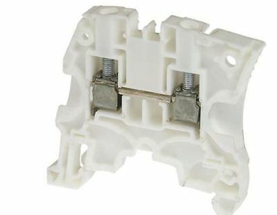 Entrelec WhiteTerminal Block, SNK Series, 6mm2, 41A, Screw - Pack of 10