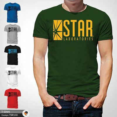 STAR Laboratories T Shirt Top The Flash S.T.A.R. Labs  GIFT T-SHIRTS Green