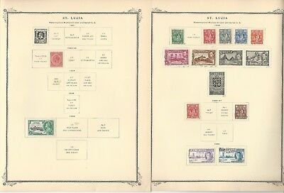 St Lucia Collection 1860-1973 on 25 Scott Specialty Pages