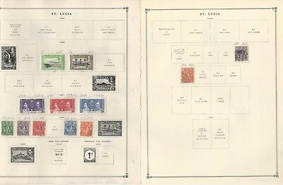 St Lucia Collection 1860-1992 on 40 Scott International & Minkus Pages