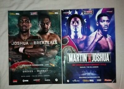 Anthony Joshua Official Fight Programme
