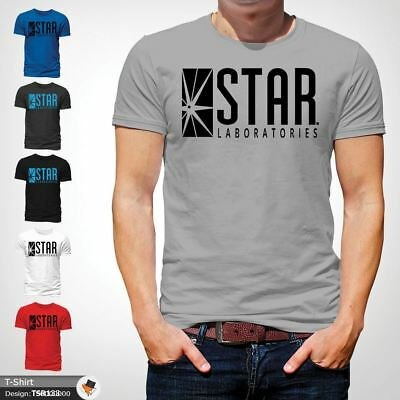 STAR Laboratories T Shirt Top The Flash S.T.A.R. Labs  GIFT T-SHIRTS Gray