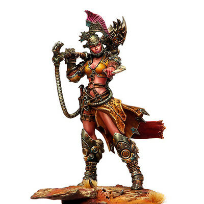 New 1/24 Scale 75mm Unpainted Resin Figure Female Warrior Model Kit Unpainted