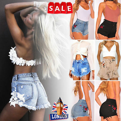 New UK Womens Ladies Summer Sexy Hot Pants Casual Summer Beachwear Party Shorts