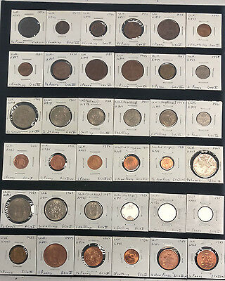 Lot of (60) Miscellaneous U.K Great Britain Coinage
