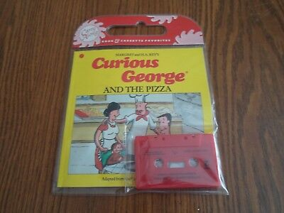 "Book & Cassette  ""curious George And The Pizza""  Carry Along 1991"