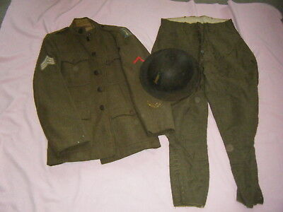 Id'ed 77th Division Painted Helmet, Patched Tunic & Pants