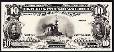 Proof Print or Intaglio Impression by BEP - Face of 1899 $10 Silver Certificate