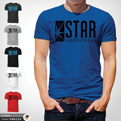 STAR Laboratories T Shirt Top The Flash S.T.A.R. Labs  GIFT T-SHIRTS Blue