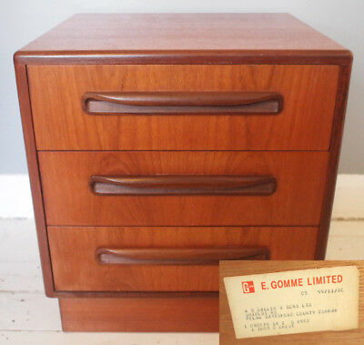 1970s Teak G Plan Fresco Chest Of Drawers Retro Vintage Bedside Cabinet Gplan