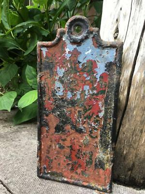 Victorian Antique Cast Iron Plaque House Sign Signwriter Architectural Salvage