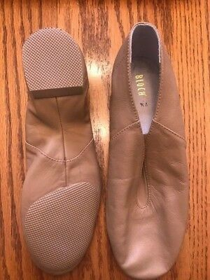 BLOCH TAN Leather SUPER JAZZ SHOES ADULT 7.5 New