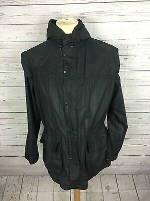 Mens Barbour Lined Durham Wax Jacket - Medium C38 - Navy - Great Condition