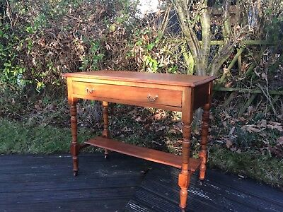 Antique satinwood desk hall table washstand,