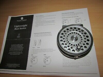 """A1 rare vintage youngs medium wid pridex salmon fly fishing reel 4""""  lineguard"""