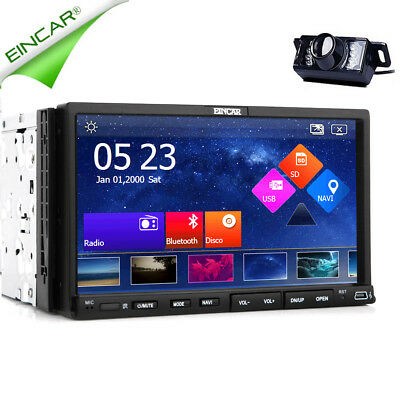 GPS Bluetooth Car DVD Player Stereo Radio 2 Din Capacitive Touchscreen iPod+Cam