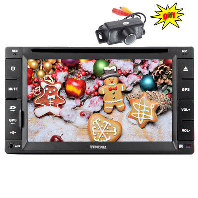 6.2'' Car Radio DVD Player GPS Touchscreen Bluetooth Vehicle Audio+8GB Map+CAM