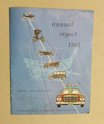 Vtg. 1961 Studebaker-Packard Corporation 110th Anniversary Annual Report
