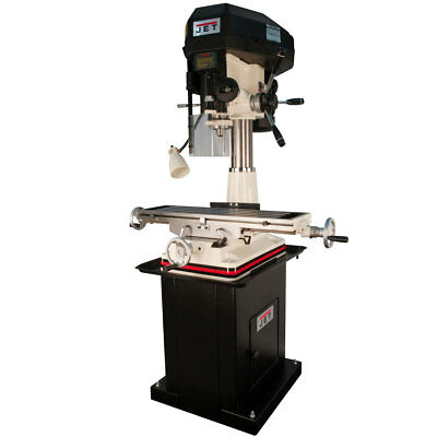 Jet 350129 JMD-18PFN Mill/Drill With NEWALL DP700 DRO and X-Axis Table Powerfeed