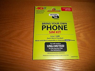 Straight Talk Bring Your Own Phone BYOP Verizon Sim Card Activation Kit 4G LTE