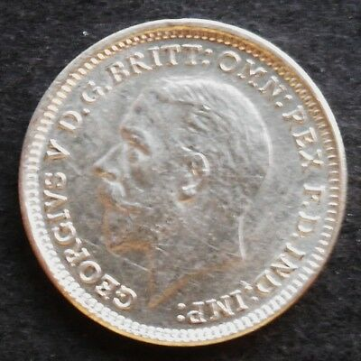 1926  Great Britain Threepence,  nice silver coin , AU+ - unc.,    # 573