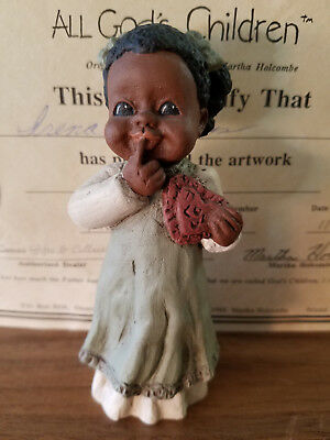 All God's Children ANGEL #1401 Collectible Figurine Miss Martha Holcombe Orig