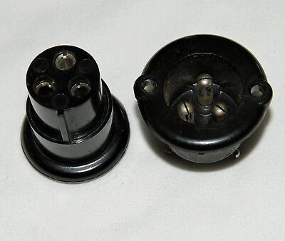Bulgin mains plug and chassis socket as used on Leak and other amplifiers