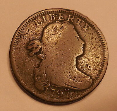 1797  Draped Bust Large Cent Coin 1c
