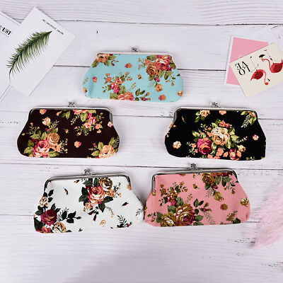 Large Women Coin Purse Flower Ladies Wallet Pocket Coin Pouch Key CrediM&C