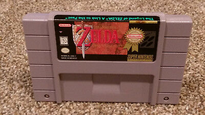 The Legend of Zelda: A Link to the Past Super Nintendo SNES game CLEAN & TESTED!