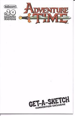 kaboom! ADVENTURE TIME #20 first printing Blank Cover convention exclusive