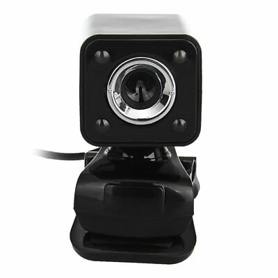 T8 1080P 800W 4 LED HD Webcam Camera + USB 2.0 Microphone for Computer PC Lapt N