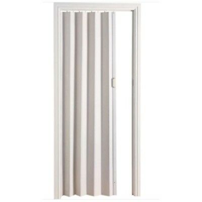 White Folding Door PVC Internal Doors Sliding Panel Bi Divider Utility Indoor
