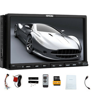 "WinCE 8.0 2 Din Car DVD Player 7"" Capacitive Touchscreen Car Stereo BT/Wifi+Map"