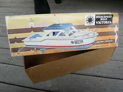 Battery operated toy boat from the 70's