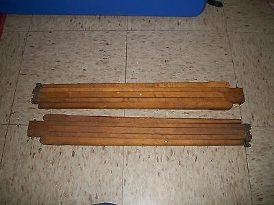 2 Antique Brass Wood Tripod Legs for Blair Camera Company Boston MA Circa 1895