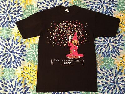 Vintage Grateful Dead 1980's Original Design T Shirt NYE 1986