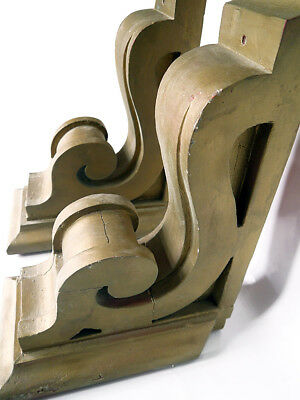 Antique Large Corbels All Wood (Pair) - circa. 1890-1900
