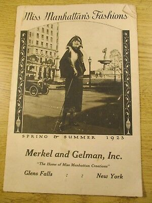 1923 Women's Fashions Catalog Spring And Summer For Miss Manhattan's Fashions
