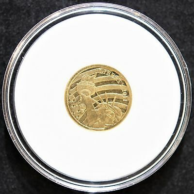 2011 Cook Island $5.00 1/10 oz .24 Pure Gold Statue Of Liberty