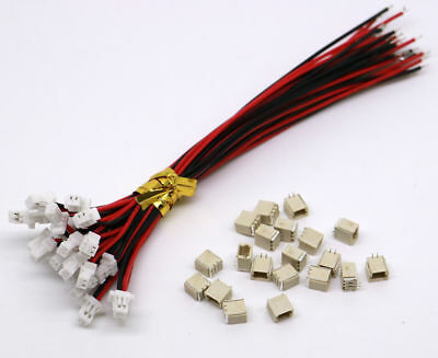 Micro JST SH 1.0mm 2-Pin  Female Connector with Wire and Male Connector 10 Sets