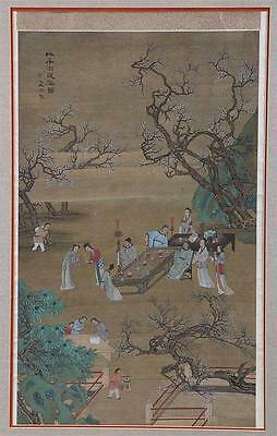 A Large and Important Chinese Antique Painting on Silk, Artist Signed.