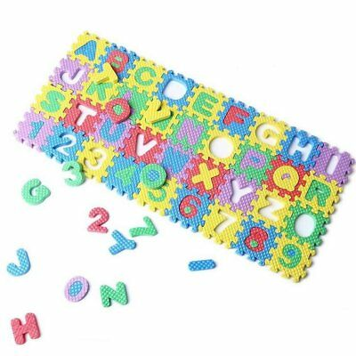 T8 36Pcs Mini Puzzle Kid Educational Toy Alphabet A-Z Letters Numeral Foam Mat