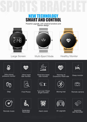 Smart Sleeping Test Round Touch Screen Bluetooth Wristband Simple Style lot