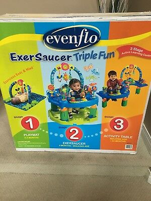 Evenflo Exersaucer 3 in 1 Pond Triple Fun Baby Activity Center EUC